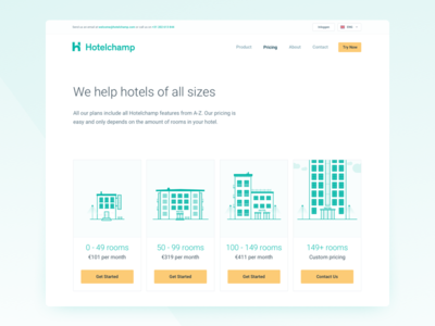 Old Hotelchamp Pricing page 2016 rooms hotels hotel illustration illustrations webpage website pricing