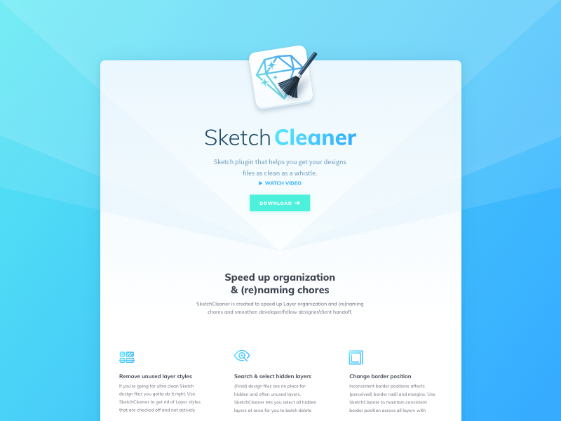 Sketchcleaner website dribbble 2x