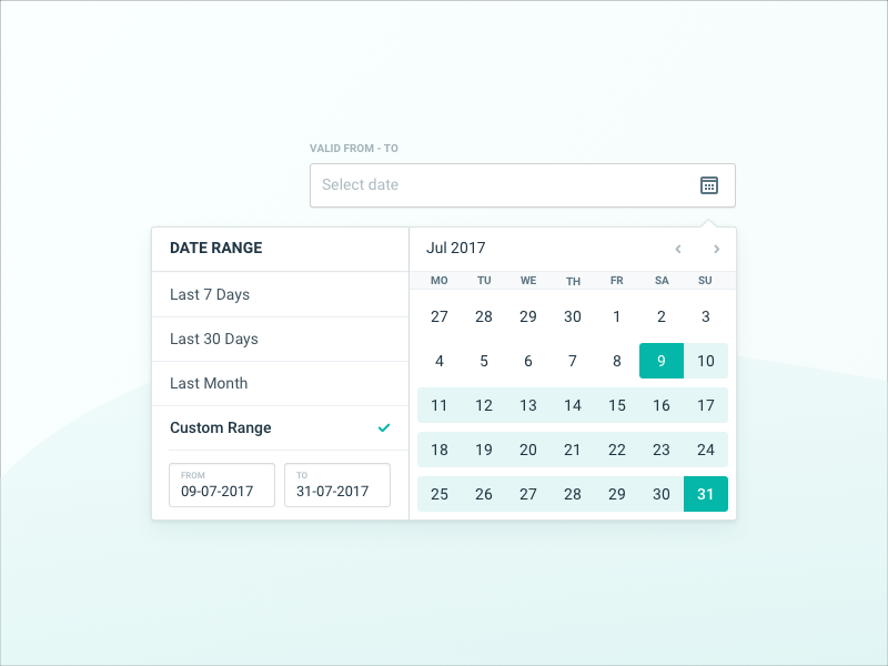 Hotelchamp Datepicker dropdown input fields tooltip calendar date date range date picker datepicker