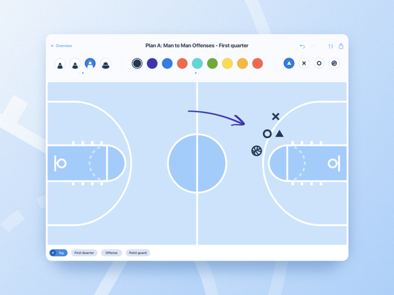 Basketball iPad App by Jeff van Steijn for Yummygum on Dribbble