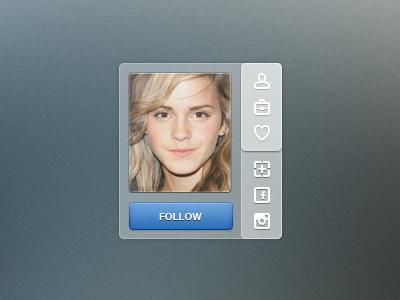 Mini profile mini profile button social media photo window socialmedia emma watson blue