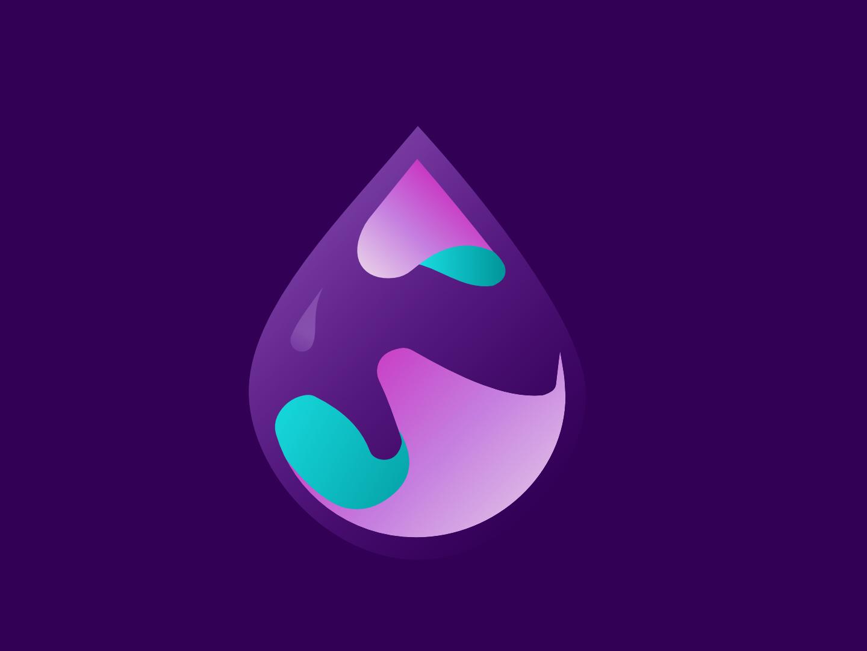 Logo Blob Glossy designer blob ux vector photoshop logo logo 3d illustration glossy ui design 3d affinitydesigner