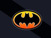 3D Batman Symbol Logo