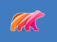 3D Bear Logo Glossy