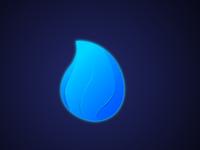3D Blue Fire Logo