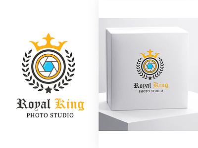 Royal King Photo Studio Logo illustration branding adobe photoshop vector design adobe xd adobe illustrator graphic design logo ui
