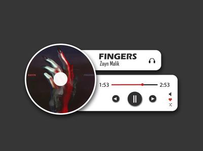 UI/UX Design - Minimalist Music Player flat app web nihalgraphics simple design vfx giant dropshadow retro uidesign uidaily minimalist mp3 player minimalist design nihaldadkhan branding ux ui illustrator cc flat design illustration adobe