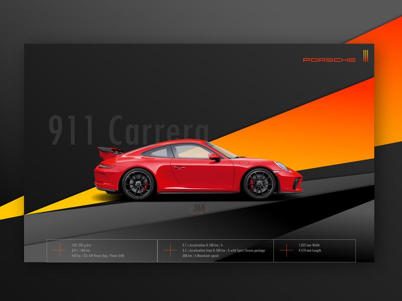 Porsche 911 black design website design graphic design interface designer interface design interface landing page landing color ux ui design ui uidesign web website