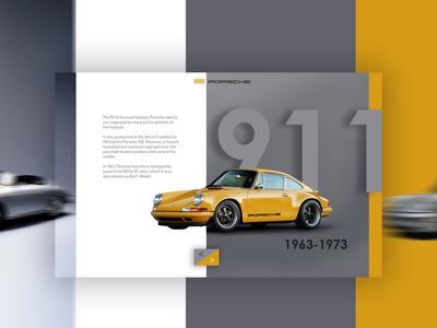 Porsche 911 Classic Car gray minimal app design minimal app porsche landing design brand typography color interface designer interface design interface graphic design ui uidesign website design landing page landing design website web