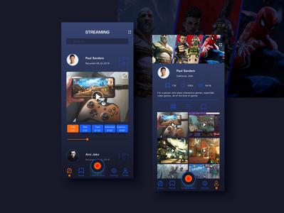 Game streaming graphic graphic design website design design website web uxui uiux dark ui app design ui design ui  ux interface designer interface design interaction design interaction interface game