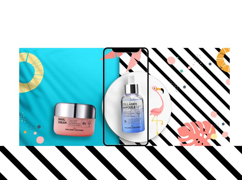 Website design gradient cosmetics flowers tropical colors uidesign interface design interface designer graphic design interface brand website design design website web