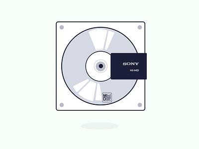 music storage :: minidisc music minidisc illustration caribbean graphic design design barbados
