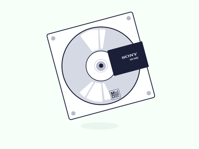 music storage :: minidisc → airified minidisc digital art music caribbean illustration graphic design design barbados