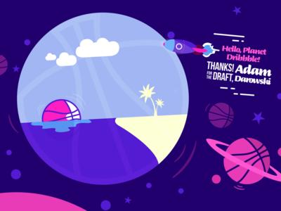 Hello Planet Dribbble