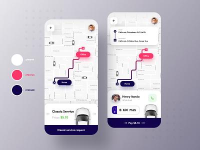 TaxiDriving app🚕🚗 mobile app taxi app uber dark blue minimal mobile design map ios uiux ui concept color clean taxi car cab blue app