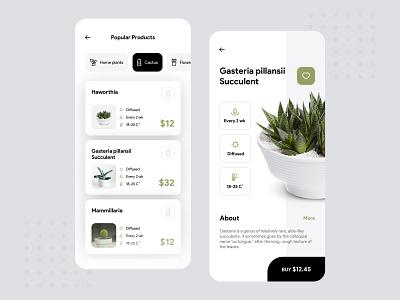Plant Ui concept plants uiux clean uidesign black store green plant ui design app minimal ios mobile design concept color ui