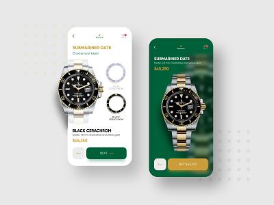 Rolex Watches app⌚️👑 buy watch rolex ui design clean uiux minimal ios app mobile design concept ui