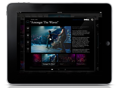 Austin City Limits And Dell live music interface music ui band music ipad dell acl austin