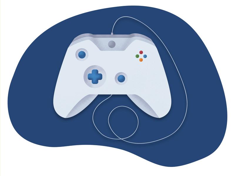 Joystick joystick blue flatdesign adobe digitalart graphic illustrator procreate texture pixel noise gamepad game art game vector design flat illustration dribbble buttons