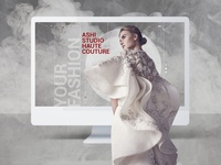 Personal website for fashion designer