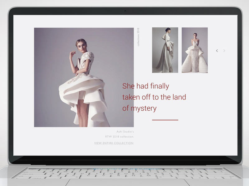 Personal website for fashion designer modeler dress clothes ui ux typography app adobe branding exclusive fashion landing page landing photo art ux  ui web website adaptive dribbble design