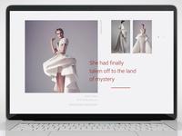 Personal website for fashion designer