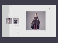 one of the pages of the clothing designer website