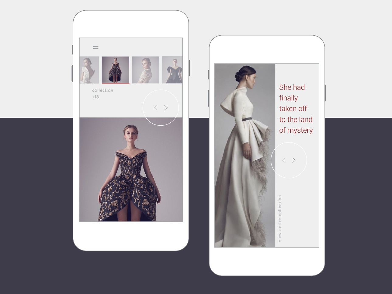 adaptive layout website of the fashion designer screen iphone vector typography branding website ux ui landing page landing flat fashion exclusive dress adaptive web app adobe dribbble design