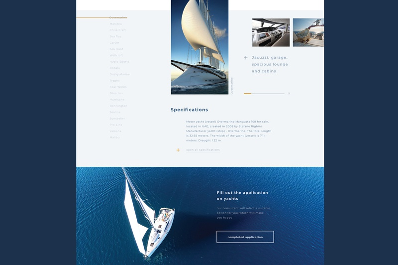 interfaces for renting a yacht yacht club minimal ocean rental user interface yacht yachting typography landing page website ui ux landing flat adaptive app web adobe dribbble design