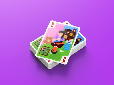 friendzone friend playing cards card design relationship illustration flat design