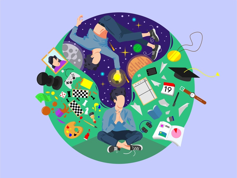 my mind vector illustration