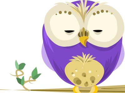 Purple Owl by Terra Spitzner - Dribbble