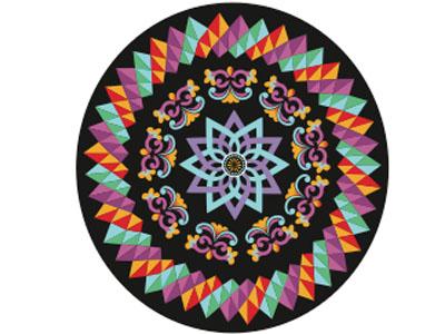 Costa Rican ox-cart pattern branding pattern costa rica