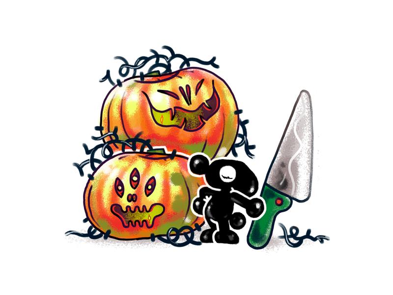 Halloween is coming... 30s character design pumpkin halloween illustration