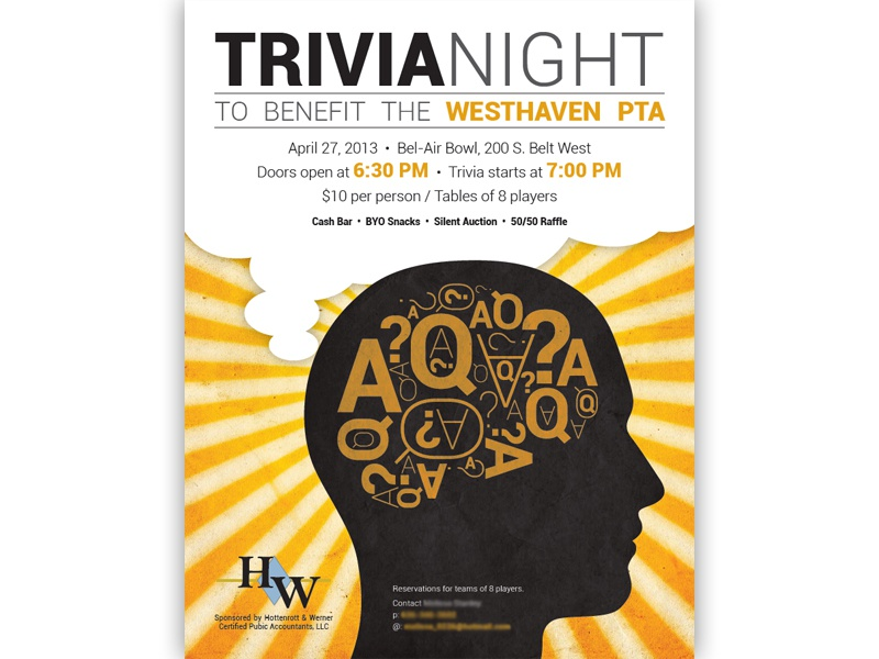 Trivia Night Flyer by Brian Lewis - Dribbble