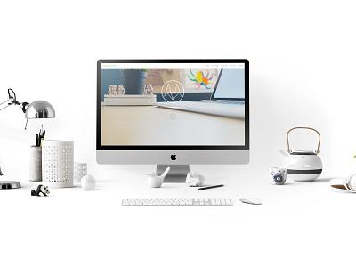Mockup Website mac photography website vector mock-up logo icon design branding