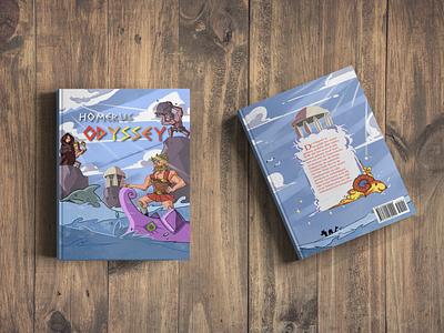 Children Book Odyssey odyssey homerus book illustration mock-up