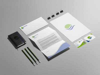 Corporate Identity agenda corporate business card envelopes letterhead design clean mock-up logo corporate branding
