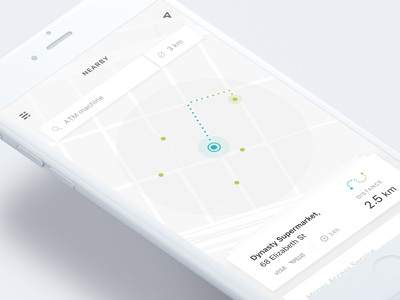 Location Tracker user interface iphone clean app mobile ui tracker location 020 dailyui