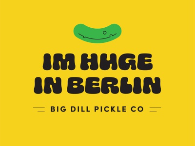 Big Dill Pickle Co. pickled produce food big pickle pickles google font ohno chee one hour experiment brand excercise dill pickle dill big dill fruit sticker packaging pickle brand pickle company pickle