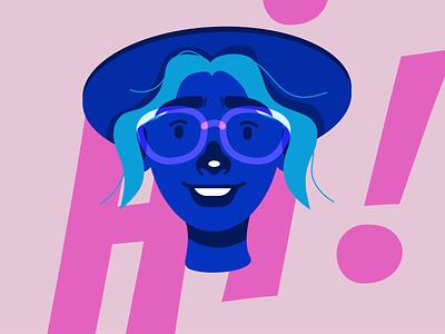 New Me web creativity illustrations typography illustration art vector flat illustration design girl character illustration adobe illustrator