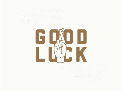 Good Luck! raffle good luck luck gold fingers crossed hand boise