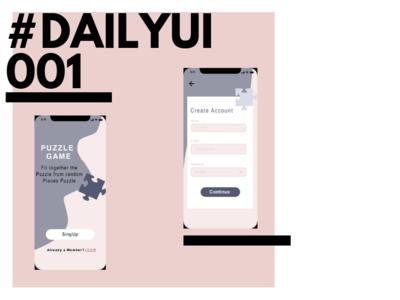 Dailyui 001 dailyui adobe xd design app ui