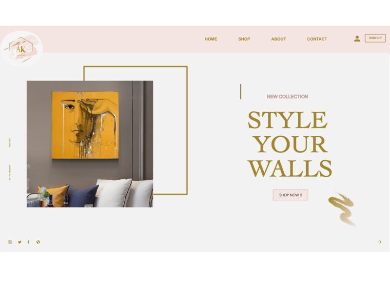 Daily IU design website web logo typography ui dailyui adobe xd