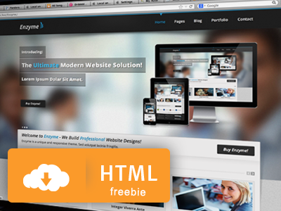 Free HTML Theme - Enzyme enzyme freebie free html download free theme theme template ethemes