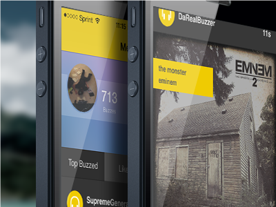 Beecast - Music Streaming App beecast buzz buzzing follow friends listen music social network stream app iphone ios