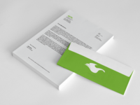 Letterhead and envelope render