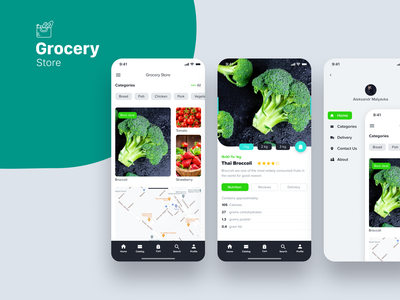 Grocery delivery app design branding graphic design ui