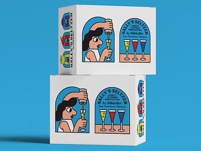 Seltzer Case Mock mockup lifestyle illustration design seltzer packaging branding wip
