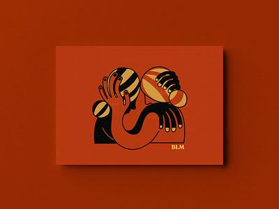Black Lives Matter Post Card Fundraiser color blm postcard blacklivesmatter graphic art drawing design illustration